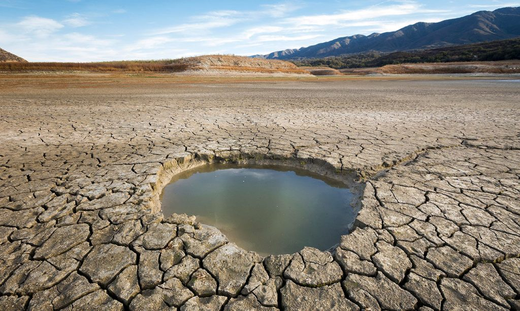 Dried out lake